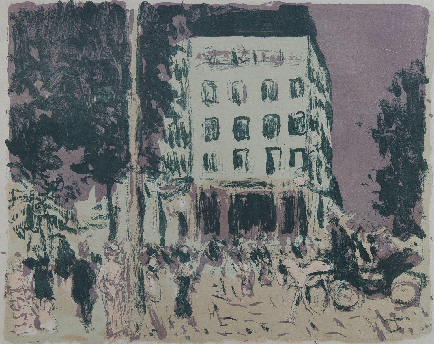 Pierre Bonnard: Les Boulevards, 1900, Farblithografie, 28,20 x 36,50 cm, Foto: Kunsthalle Mannheim/ Kathrin Schwab