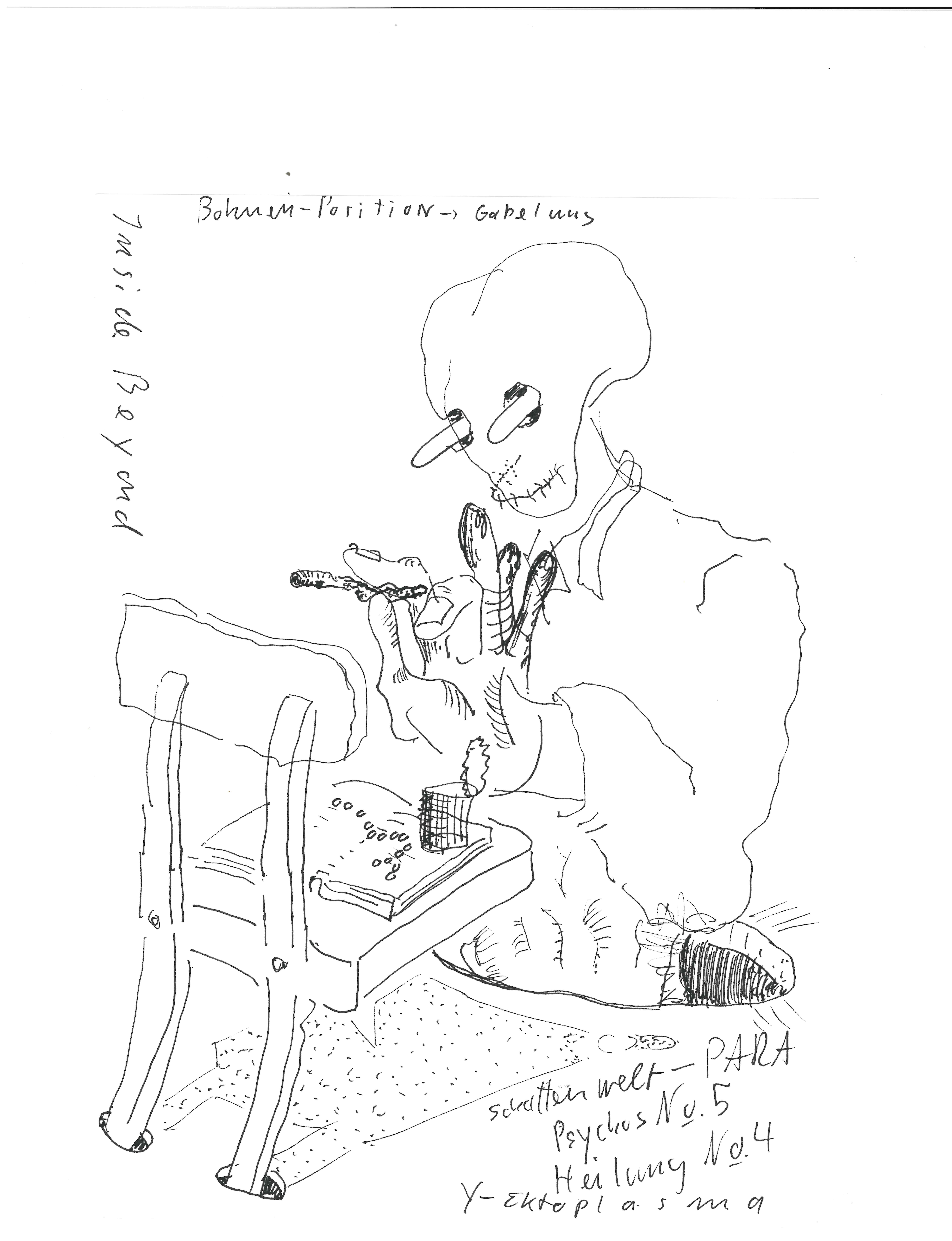 John Bock Inside Beyond Fineliner auf Papier, 2019 JB/D 1906
