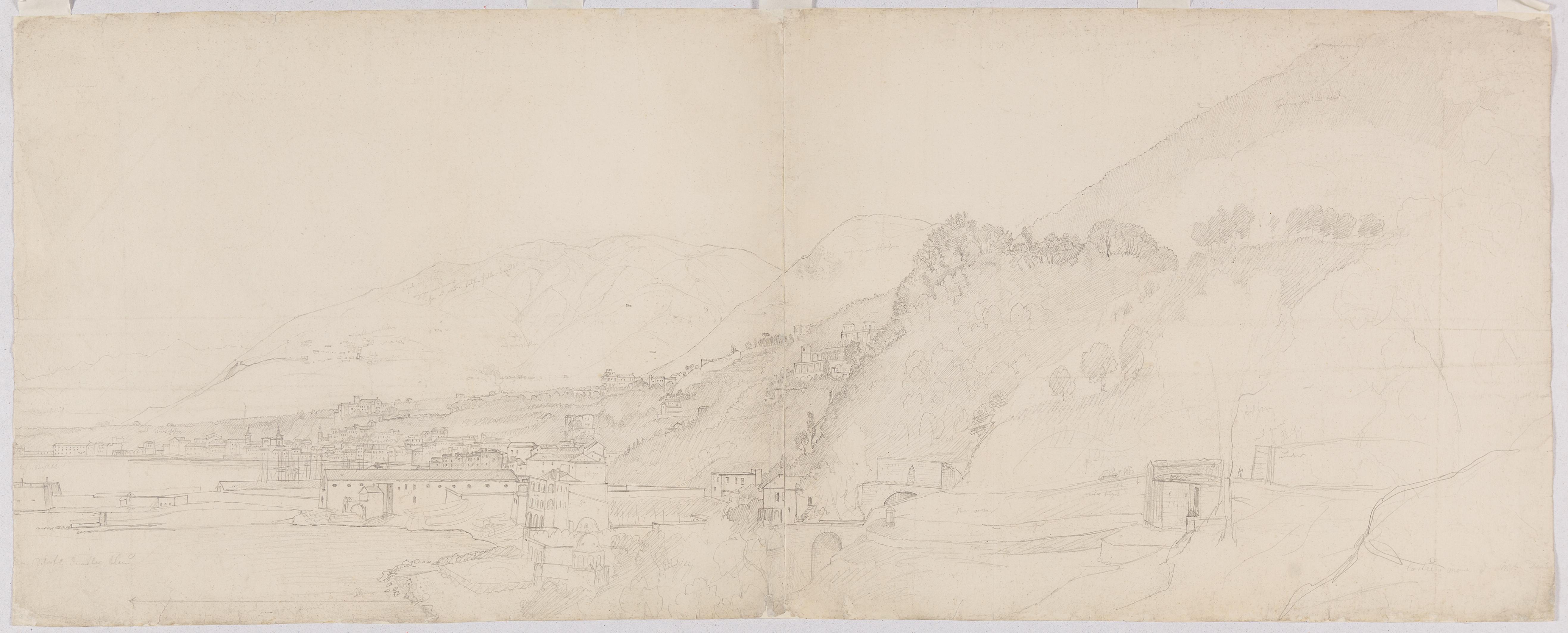 Johann Martin von Rohden (1778 - 1868), Castel a mare, um 1832 / 1833