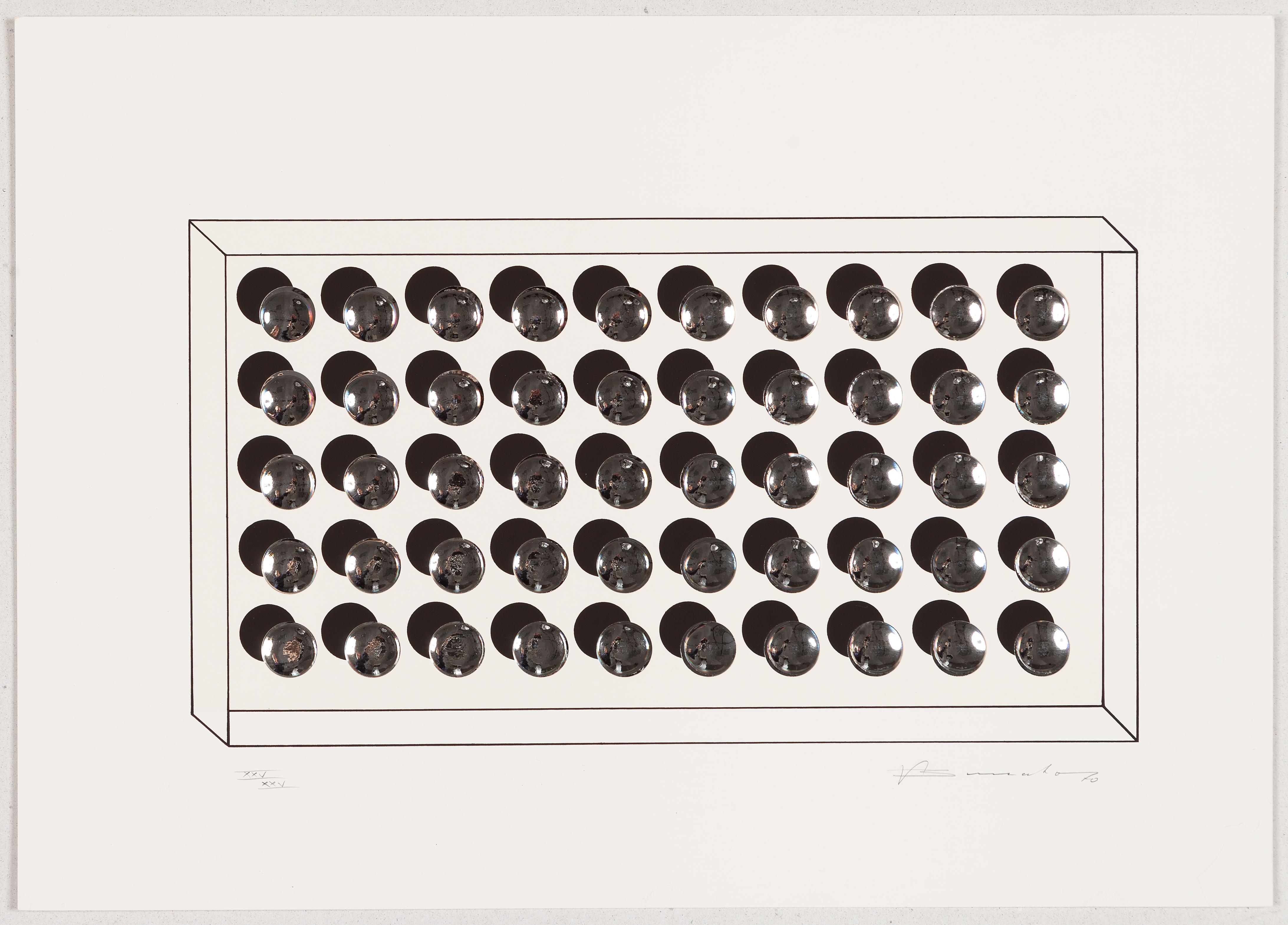 "Victor Bonato,  Ohne Titel, Blatt aus der Mappe  ""4. Kölner Kunstmarkt 1970"", 1970 VG Bildkunst Bonn, 2020"