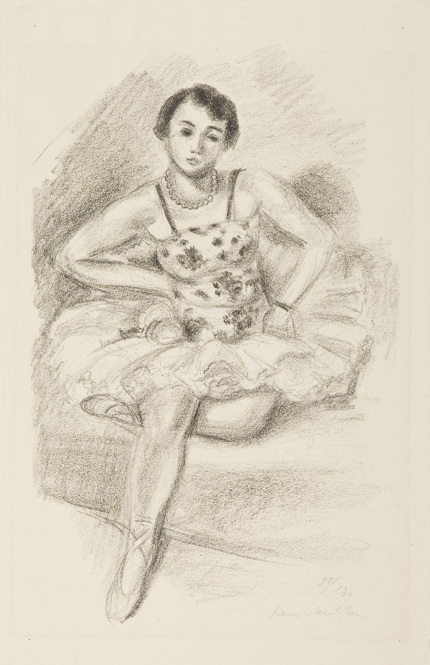 Bildunterschrift: Henri Matisse. Sitzende Tänzerin, undatiert, Lithografie, © Succession H. Matisse/ VG Bild-Kunst, Bonn 2019, Foto: Kathrin Schwab