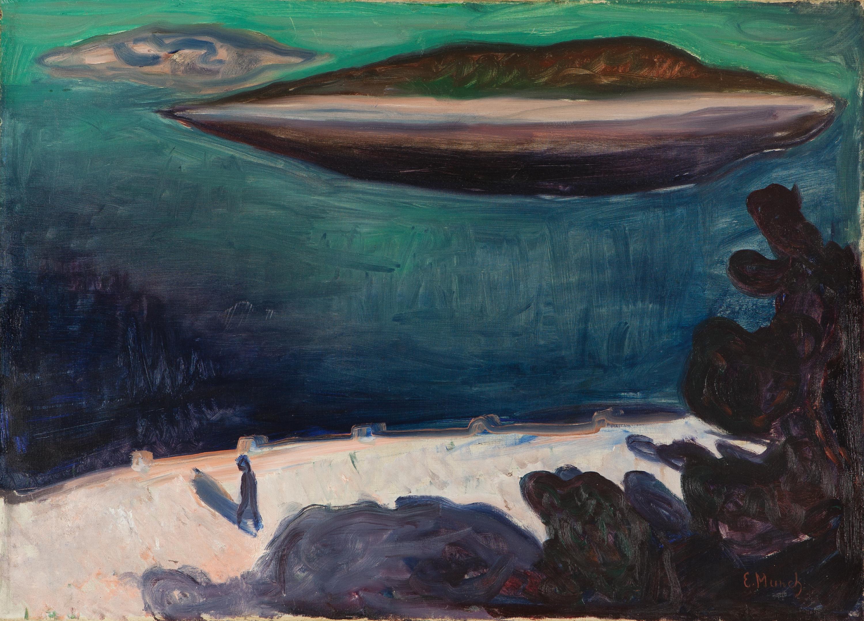 Sehnsuchtsorte in der Kunst entdecken: Edvard Munch, Utsikt fra Nordstrand, 1900-1901