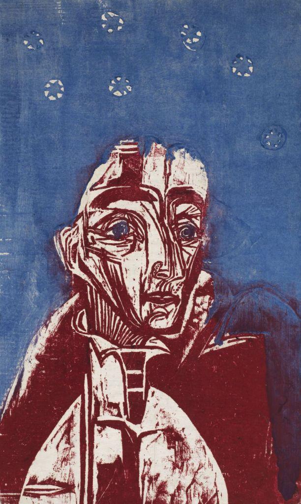 Ernst Ludwig Kirchner, Woman in the Night, 1919 Color woodcut, 58 x 34,4 cm Kunstmuseum Bern, Legat Cornelius Gurlitt 2014 © Kunstmuseum Bern