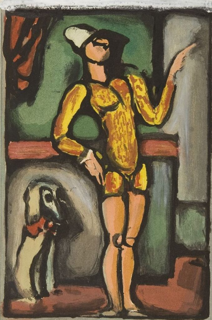 George Rouault: August, 1935, Aquatinta und Gouache, 34,60 x 24,50 cm, VG Bild-Kunst, Bonn 2019, Foto: Kunsthalle Mannheim/ Cem Yücetas
