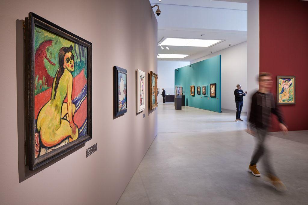 """Bildunterschrift: Blick in die Ausstellung """"Inspiration Matisse"""" (27.09.2019 bis 19.01.2020) in der Kunsthalle Mannheim Foto: Kunsthalle Mannheim/ Daniel Lukac"""
