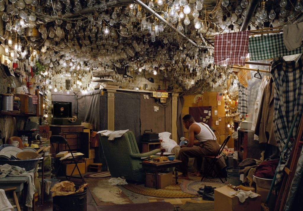 "Jeff Wall, After ""Invisible Man"" by Ralph Ellison, the Prologue, 1999-2001 Transparency in lightbox, 174 x 250,5 cm courtesy the artist © Jeff Wall"