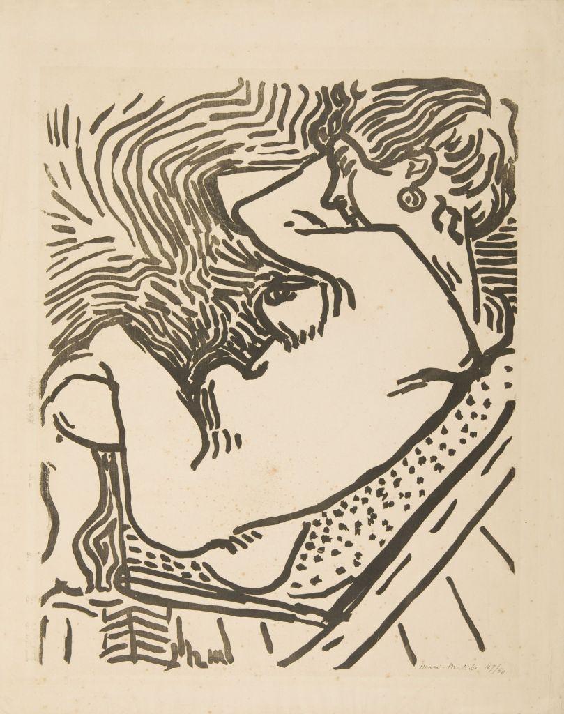 Henri Matisse, Großer Holzschnitt | Grand Bois, 1906 Holzschnitt, 58,4 x 46,5 cm Kunsthalle Mannheim © Succession H. Matisse/ VG Bild-Kunst, Bonn 2018 Foto: Kunsthalle Mannheim / Cem Yücetas