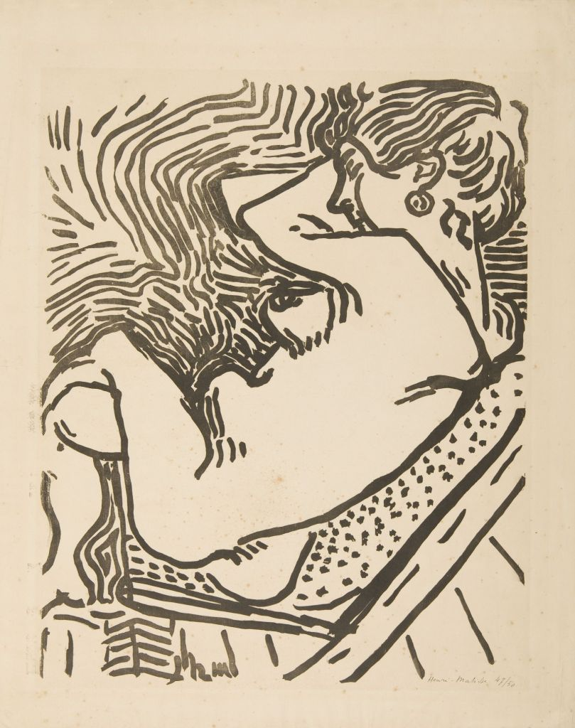 Henri Matisse, Large Woodcut | Grand Bois, 1906 Woodcut, 58,4 x 46,5 cm Kunsthalle Mannheim © Succession H. Matisse/ VG Bild-Kunst, Bonn 2018 Photo: Kunsthalle Mannheim / Cem Yücetas