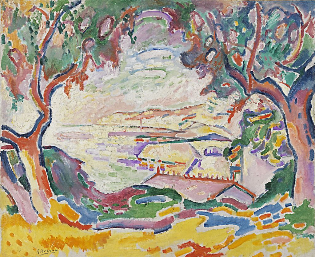 George Braque: Marine, L'Estaque, 1906, Öl auf Leinwand, 59 x 72,4 cm, Carmen Thyssen-Bornemisza Collection on loan at the Museo Nacional Thyssen-Bornemisza, Madrid, © VG Bild-Kunst, Bonn 2018