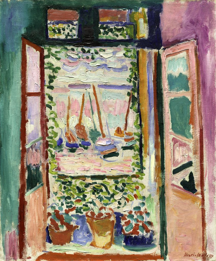 Henri Matisse, Offenes Fenster, Collioure | La fenêtre ouverte, Collioure, 1905, Öl auf Leinwand,  55,3 x 46 cm, Collection of Mr. and Mrs. John Hay Whitney National Gallery of Art, Washington 1998.74.7 © Succession H. Matisse/ VG Bild-Kunst, Bonn 2018