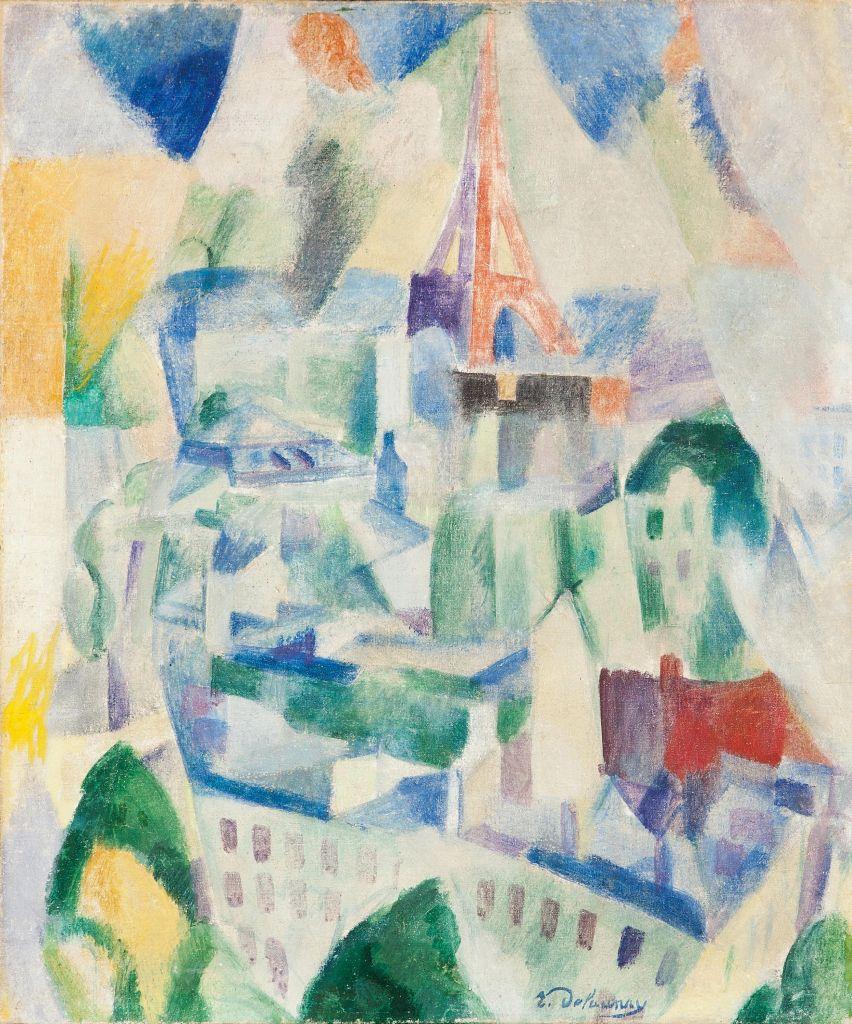 Robert Delaunay: Das Fenster zur Stadt, 1910-1914, Leihgabe des Landes Baden-Württemberg seit 1966