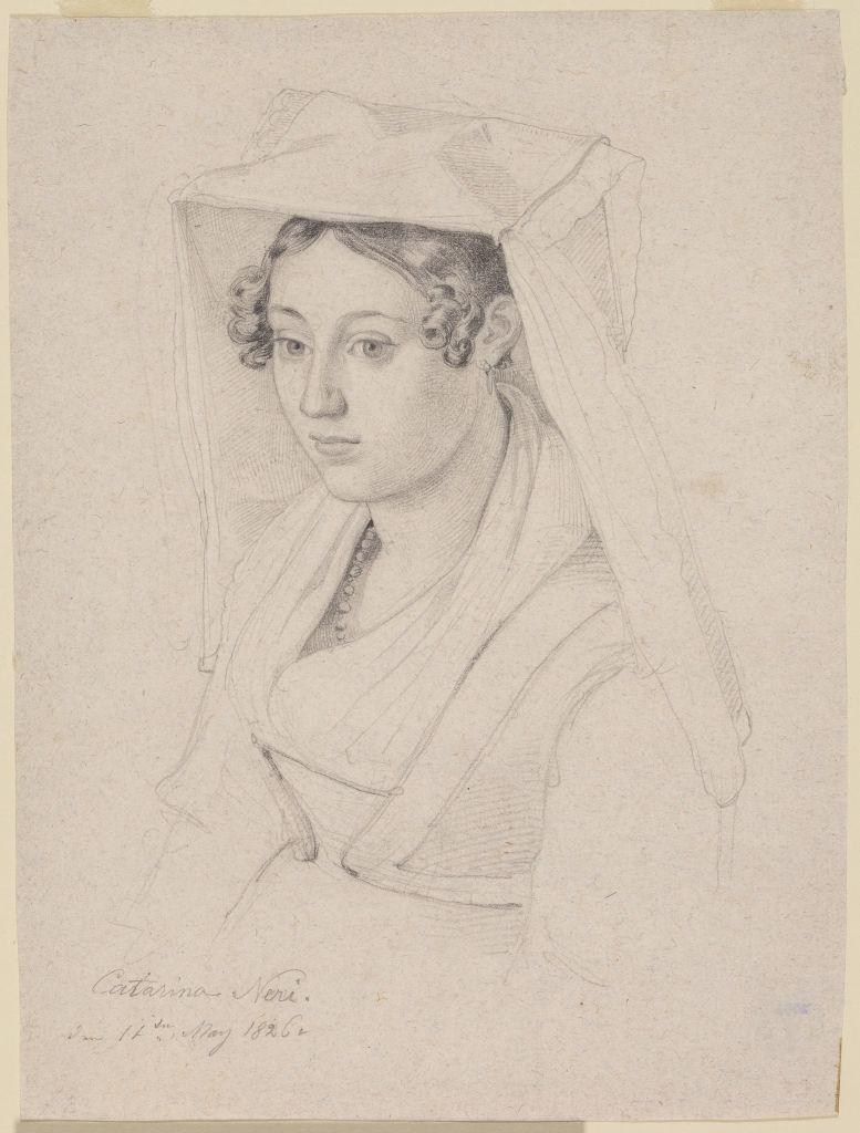 Ernst Fries (1801 - 1833), Brustbildnis der Catarina Neri, 1826