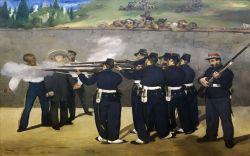 Édouard Manet (*1832 - 1883) L'exécution de l'empereur Maximilien Die Erschießung Kaiser Maximilians 1868 - 1869 Foto: Kunsthalle Mannheim/Cem Yücetas