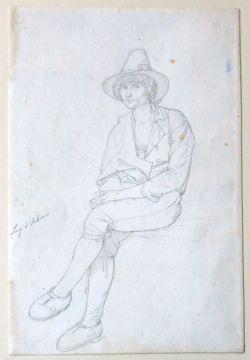 Edward von Steinle (1810 - 1886), Luigi di Subiaco, ohne Datierung Bleistiftzeichnung
