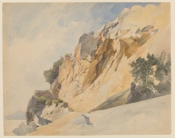 Edmund Kanoldt (1845 - 1904), Felsen am Meer, um 1890